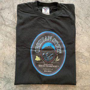 Vintage Deschutes Brewery Obsidian Stout Shirt